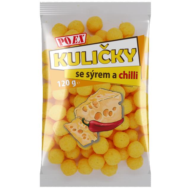 Snack s příchutí sýru a chilli
