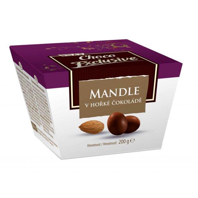 Mandle v hořké čokoládě