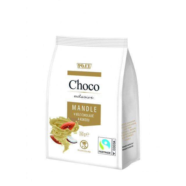 Mandle v bílé čokoládě a kokosu